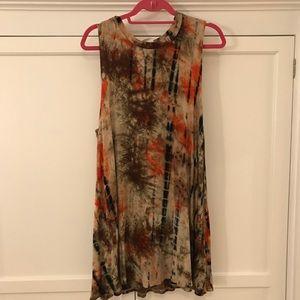 Dresses - Multiple Colored Tie Dye T-shirt Dress